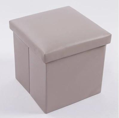 Jianmo Brand Storage Stool Can Sit People Candy-Colored Leather Footstool with Cap Toy Storage Box Stool
