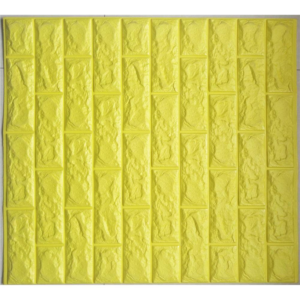 3D Foam Baby Protector Wallpaper Or Flooring Oblique Black Design Bricks