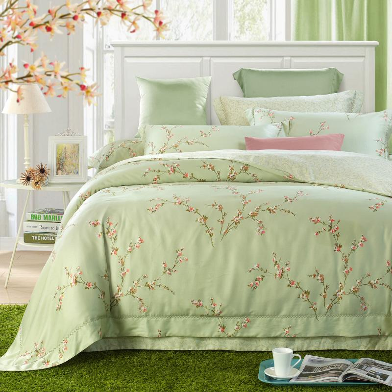 Perfect Xin ungu tekstil rumah Dua Sisi Tencel 4Pcs Set 60 pernikahan Warna  Polos set 7125355b69