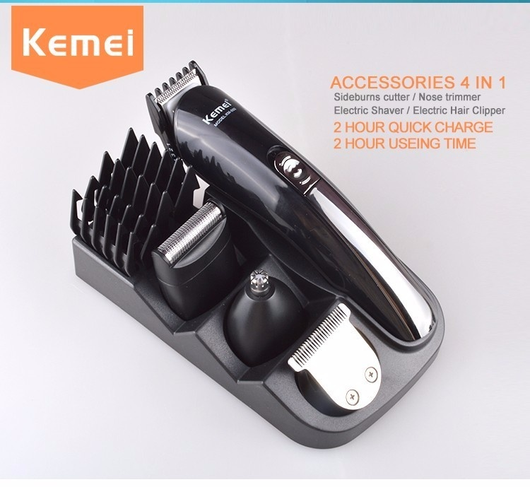It is a 6-in-1 hair clipper kit. You can use the various accessories to shave areas of hair and remove the annoying ear hair, eyebrows and facial hair.