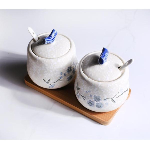 Seasoning Containers Ceramic Seasoning Box Shakers Kitchen Supplies Set Seasoning Containers Salt Household Pepper Oil Jar Seasoning Box