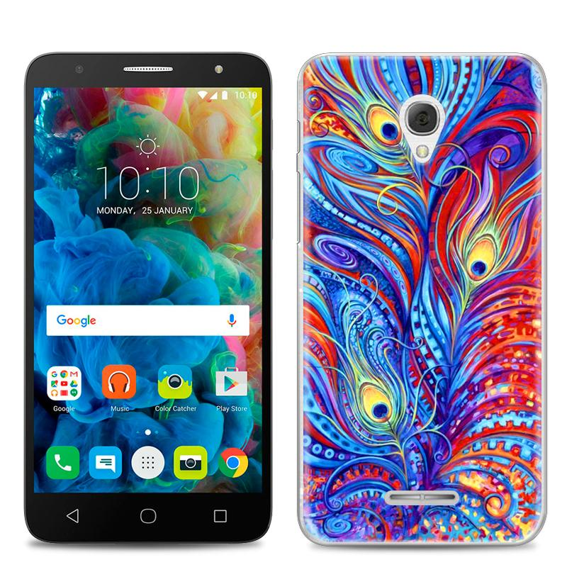 Alcatel pop4 plus Casing HP kreatif menggambar dengan warna Puding set pop4 plus kartun kreatif casing silikon