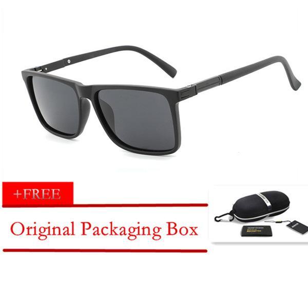 011caf8176 HDCRAFTER Original Fashion Black Frame Sunglasses Men Polarized Driving  Vintage Shades Eyewear Oculos UV400