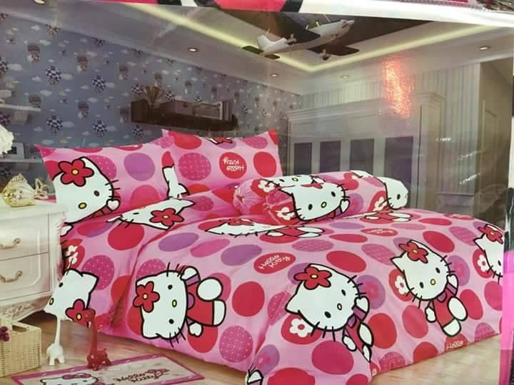 Hello Kitty 3in1 Bedsheet Pink