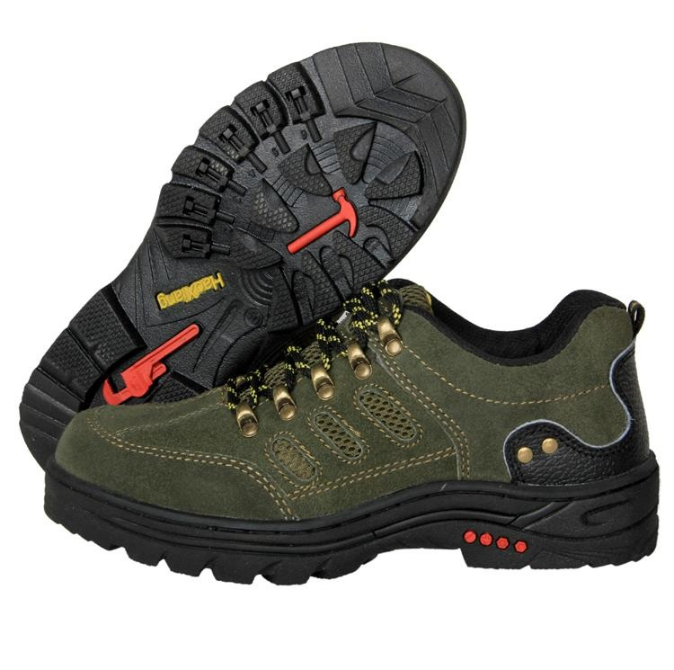 Safety Shoes Men And Women Steel Head Anti-smashing And Anti-penetration Cowhide Rubber Sole Anti-slip Wear-Resistant Summer Season Work Mountain Climbing