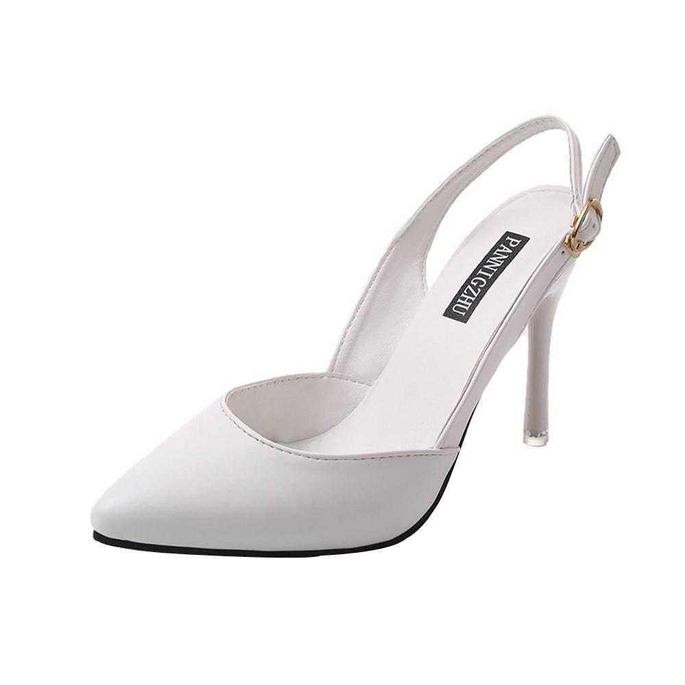 Teresastore Fashion Women Pointed Toe Buckle Strap Comfortable Work High Heel Party Shoes By Teresastore.