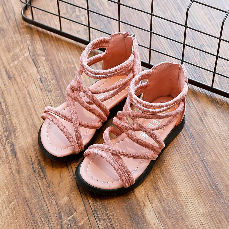 Musim panas model baru anak-anak Roma Sandal Summer besar perawan tali sepatu anak prempuan