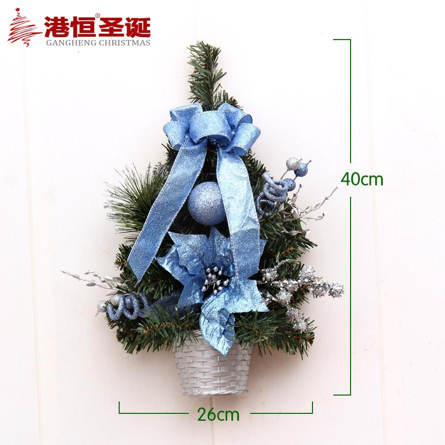 GANGHENG Christmas Ornaments 40 Cm Red Wall Hangers Decorative Christmas Tree Half Christmas Tree