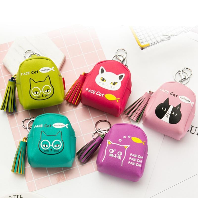 Korea Fashion Style Kulit Mini Kecil Kantong Uang Kecil Dompet Uang Receh (