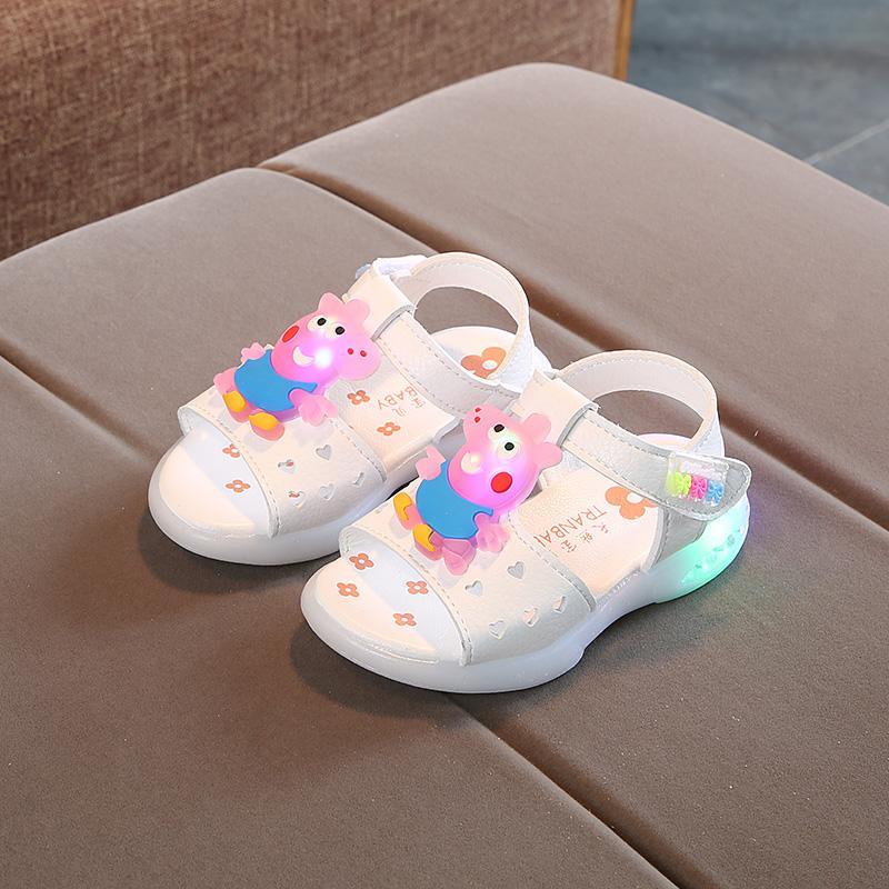 Rp 258.500. Musim Panas Bayi Perempuan Lampu Nyala Sandal Summer Sepatu Putri Anak ...