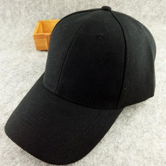 Women Men Solid Color Snapback Caps Black Hats Winter Autumn Spring Sun Hats  Hip pop Caps de830992f7