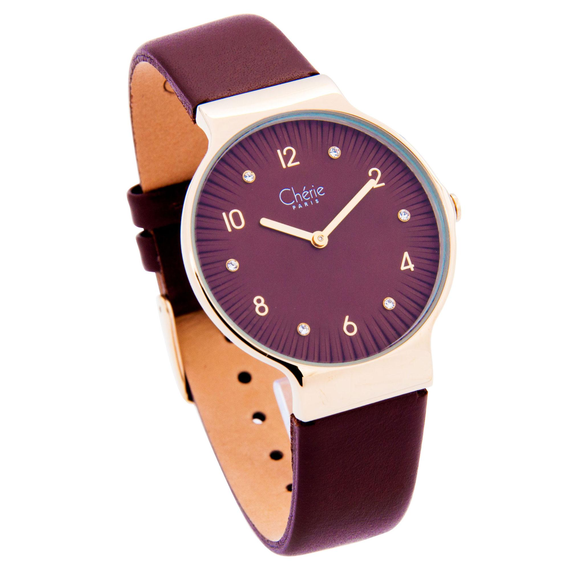 Cherie Paris Cara Women Leather Strap Analog Watch CHR-1760L (Fashion Collection) -