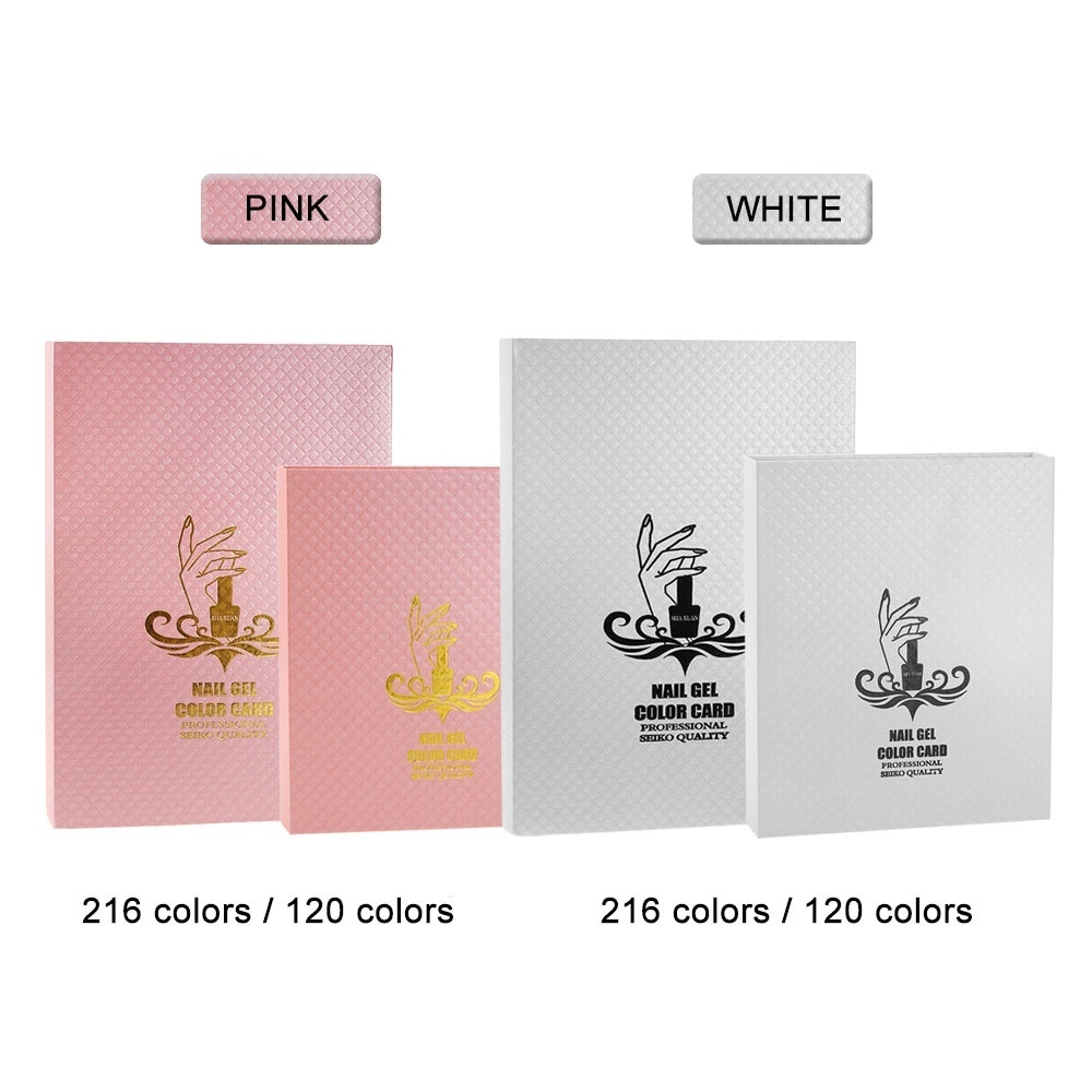 d902eecef0 Product details of Professional 120 Colors White Nail Gel Polish Display  Chart with Tips Nail Polish Color Card Chart Nail Art Salon Set - intl