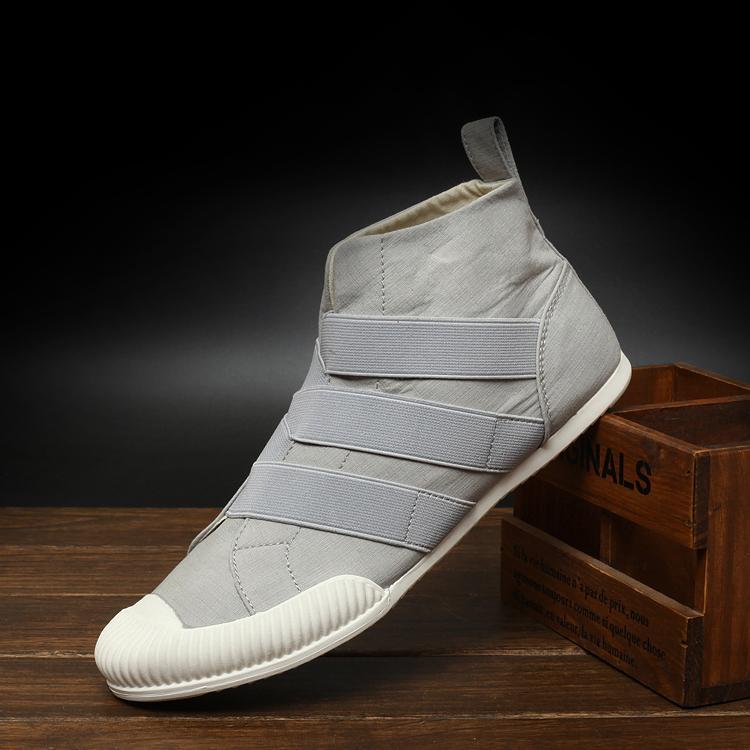 Model baru Musim semi dan musim panas fashion populer Inggris sepatu kasual pria Pergelangan Kaki Tinggi pria sepatu kanvas tutupan kaki model sepatu pria sepatu - 3