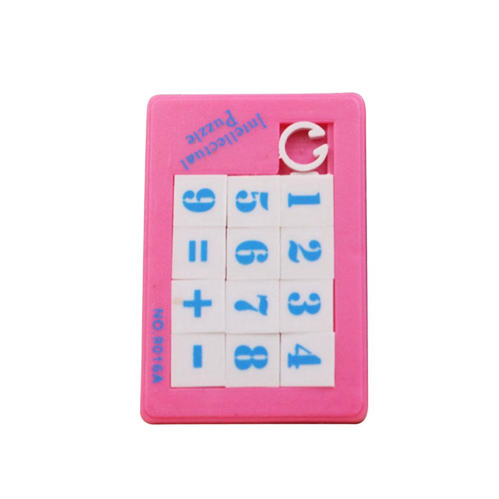 Mini Novelty New Jigsaw Sliding Puzzle Puzzle Plastic Digital Color Random By Jinwen Store.