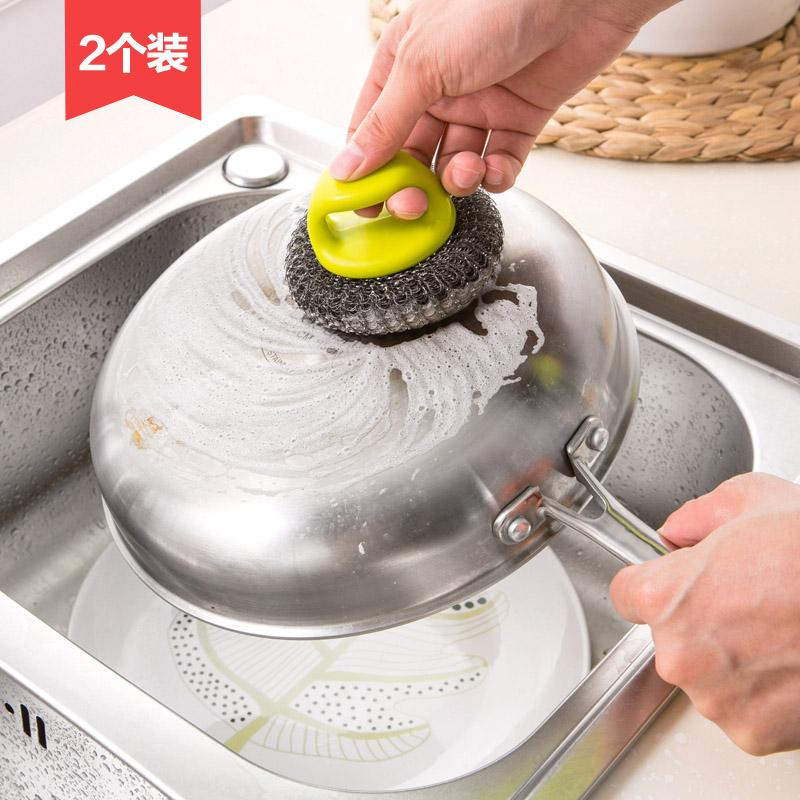 Kuas Dapur dengan Sikat dengan Pegangan Panci