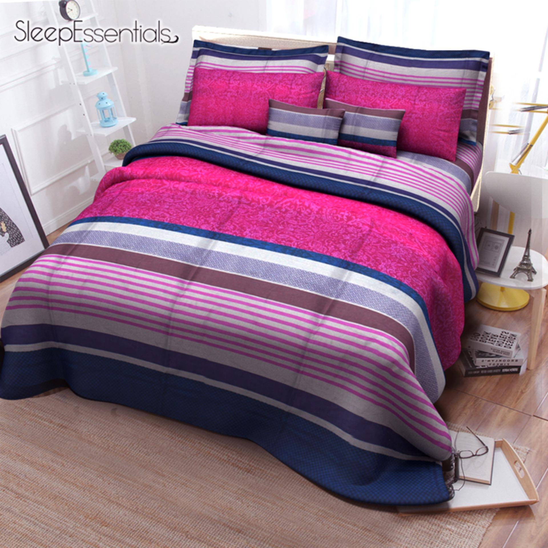 Sleep Essentials 2018 Collection 3in1 Bedsheet (2 Pillowcases 1 Fitted Sheet ) SE