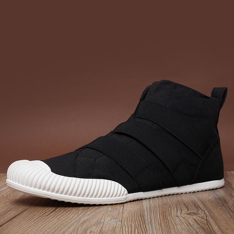 Model baru Musim semi dan musim panas fashion populer Inggris sepatu kasual pria Pergelangan Kaki Tinggi pria sepatu kanvas tutupan kaki model sepatu pria sepatu - 2