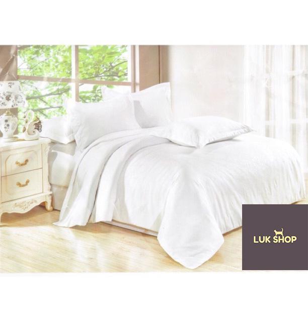 LUK Cotton 4in1 Dark Floral Print Bed Sheet Quilt Set (Queen Size)