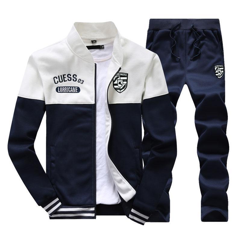 6f26b7f313850 Sweater Men Spring And Autumn 2019 New Style Korean Style Trend plus Velvet  Sports Set Male