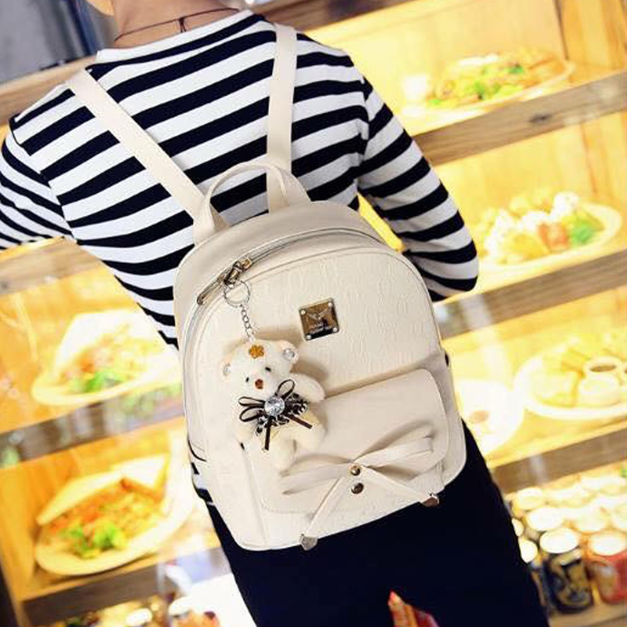 Specifications Of Korean Bag 4 In 1 Set With Bear White
