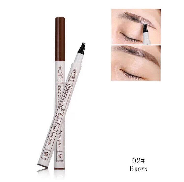 Liquid Tattoo Eyebrow Pen With Four Tips Brow Pen, Long-lasting Waterproof Brow Gel for Eyes Makeup-Brown Philippines