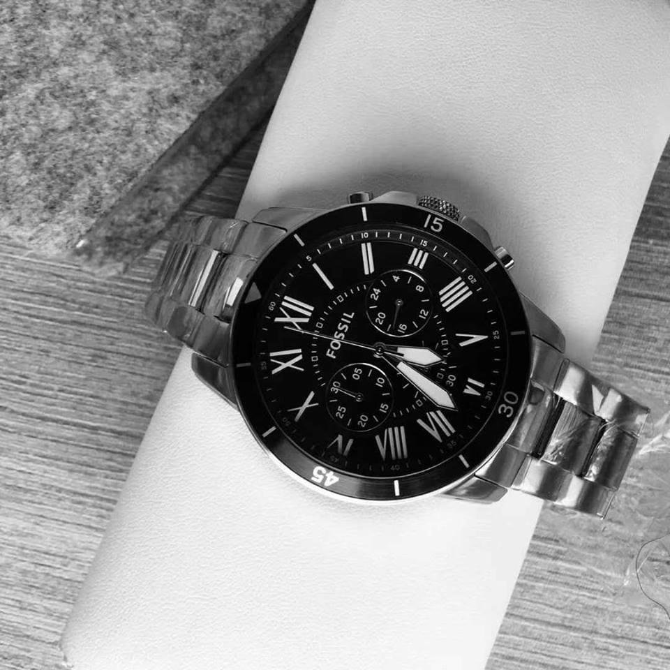 c448b7f95622 Fossil Mens Grant Sport Chronograph Stainless Steel Men s Watch - FS5236