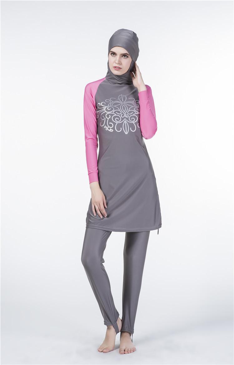 Baru Baju Muslim Muda Baju Renang Muslim Wanita Pantai Baju Mandi Muslimah Baju Renang Islam Selancar Renang Memakai Burkini-Intl