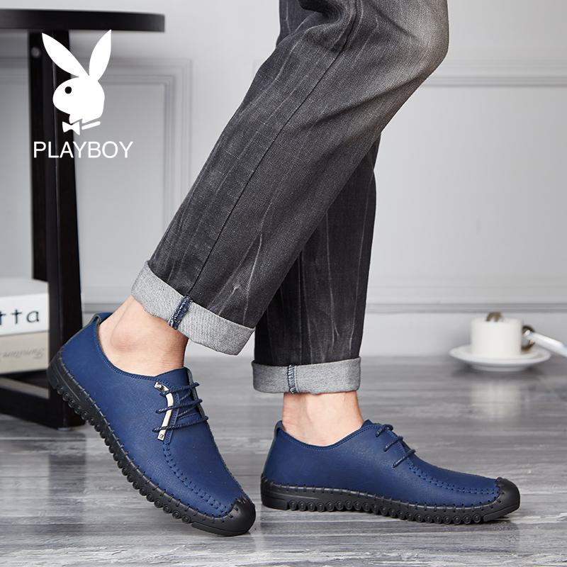 Playboy Baru Pria Bisnis Kasual Sepatu Kulit Sepatu Pria (6256 Hitam)