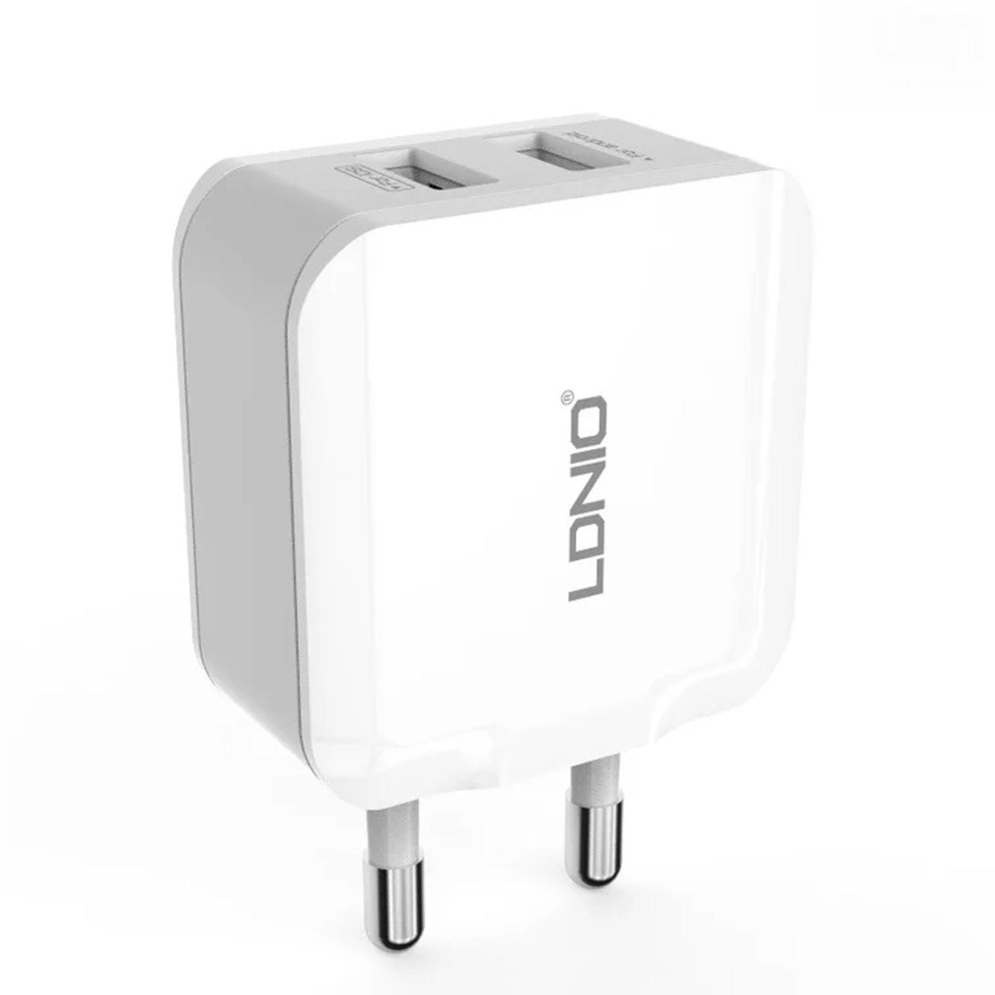 Ldnio A2201 2 Usb 5v 24a Quick Charge Universial Charger Remax Car 3 Output Saver 36a White