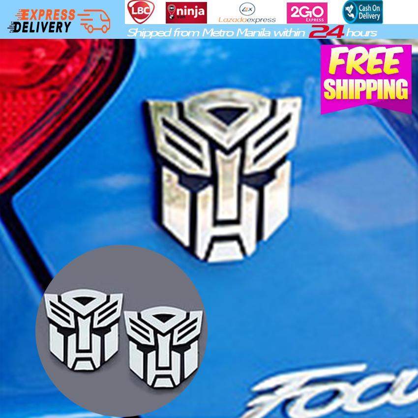 2PCS Transformers Autobots Car Sticker 3D Logo Windshield Car Stickers Design Car Body Sticker Computer Stickers