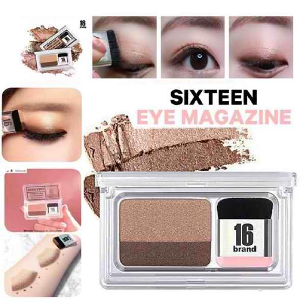 (#1 Everyday) Eye Shadow Kit 16 BRAND Eye Magazine Eye Shadow Quick and Easy Eyeshadow Kit with Brush2.5g Philippines