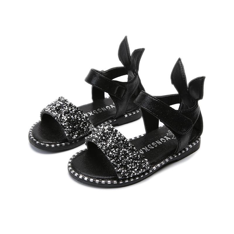 2018 Musim Panas Sepatu Anak-anak Anak Prempuan Sandal Summer Putri Kelihatan Jari Kaki Sandal