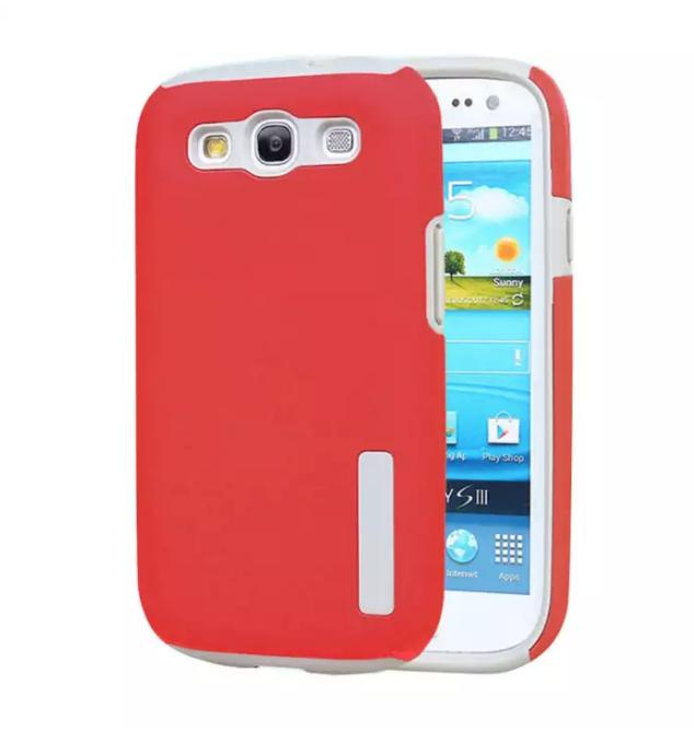 Incipio TPU/PC Back Case Cover for Samsung Galaxy S3 with Free Tempered Glass Screen