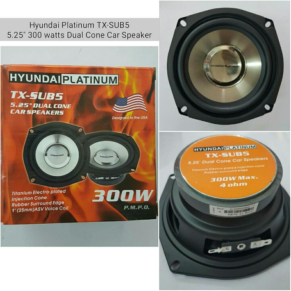 Car Speakers For Sale Speaker Cars Online Brands Prices How To Wire Up Subwoofers Hyundai Platinum Tx Sub5 525 300 Watts Dual Cone 4 Ohms
