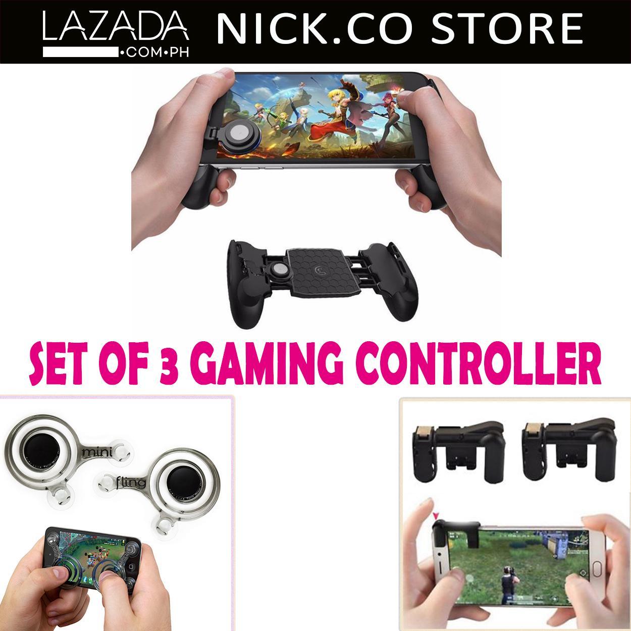 Set Of 3 Mobile Gamepad Fling Mini Joystick Gaming L1R1 Sharpshooter Controller Gaming Mobile JL-
