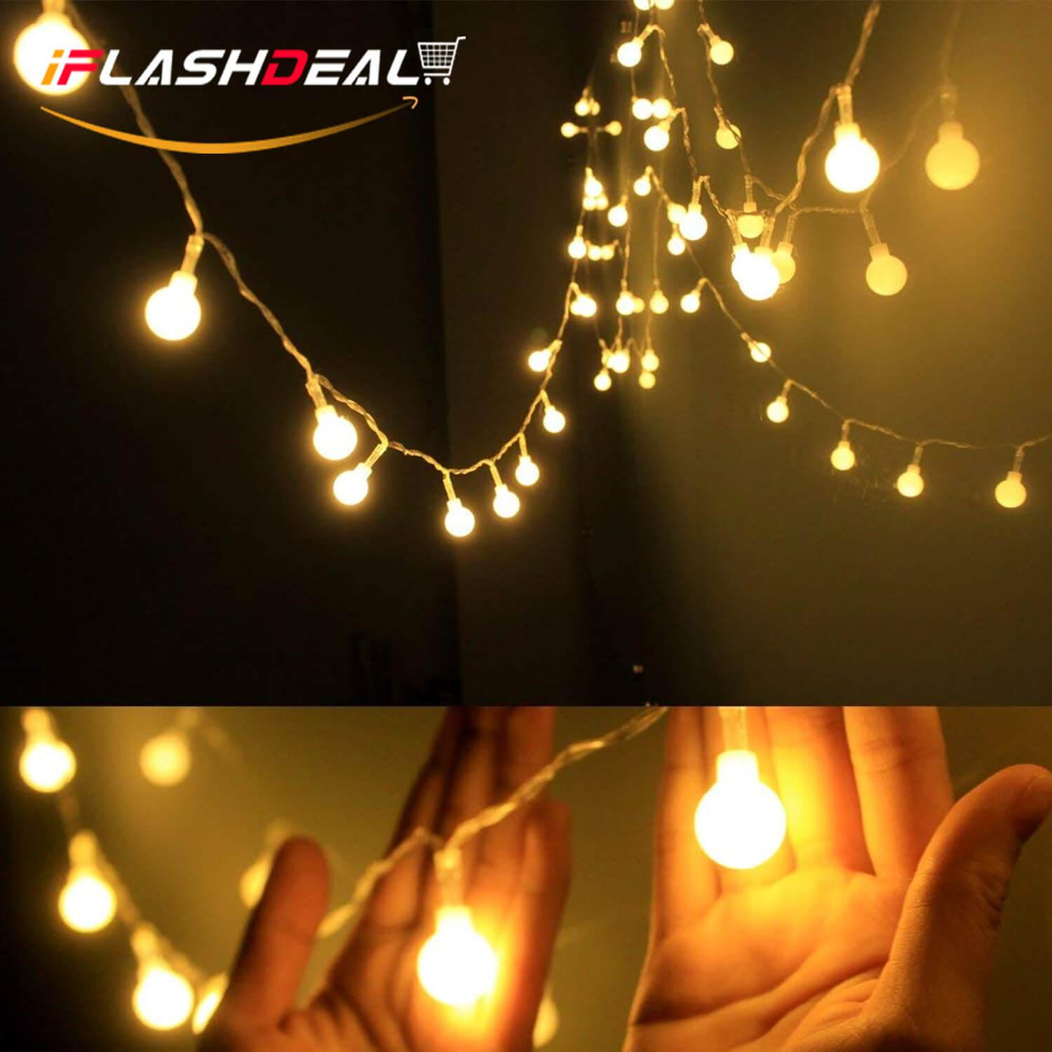 iFlashDeal Globe String Light,LED Starry Light Fairy Light for Wedding, Christmas Party (Warm White, 13feet/4meters) Singapore