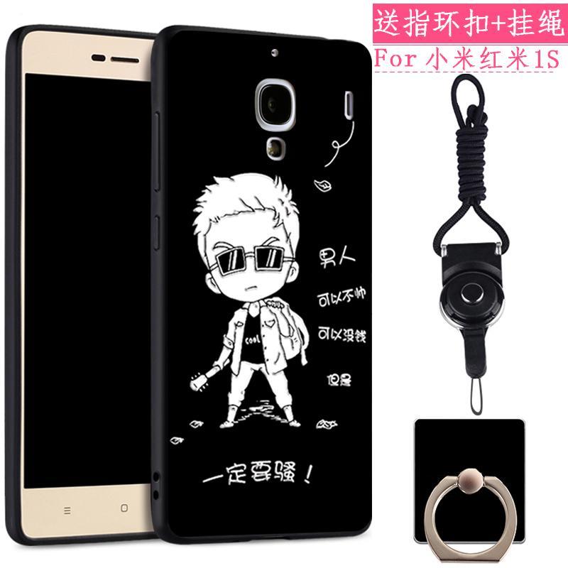 Xiaomi Redmi 1 s Casing HP model uniseks 4.7-inch Silikon lunak tali gantungan hm1s Casing ULTRAGROW Imut anti jatuh Baur kreatif kepribadian Bungkus Penuh pos pemeriksaan perbatasan 通网 Redsun Korea Chasing luar pasangan pasang
