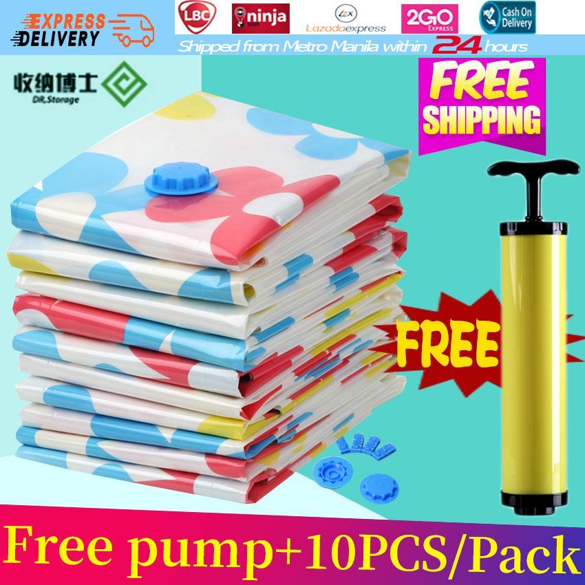Free Pump 10pcs Pack Dr Storage Sunflower Vacuum Bag