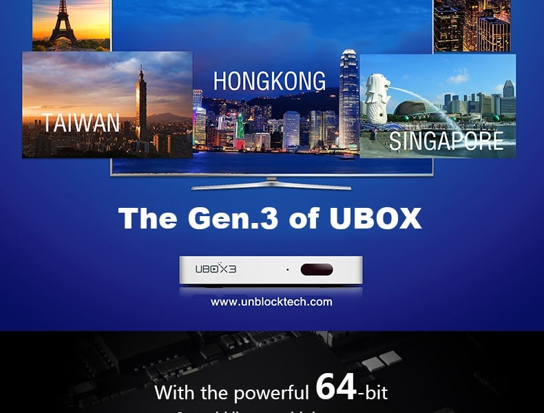 Unblock Tech Ubox Gen 3 S900 Pro UBTV Android Media Player Box