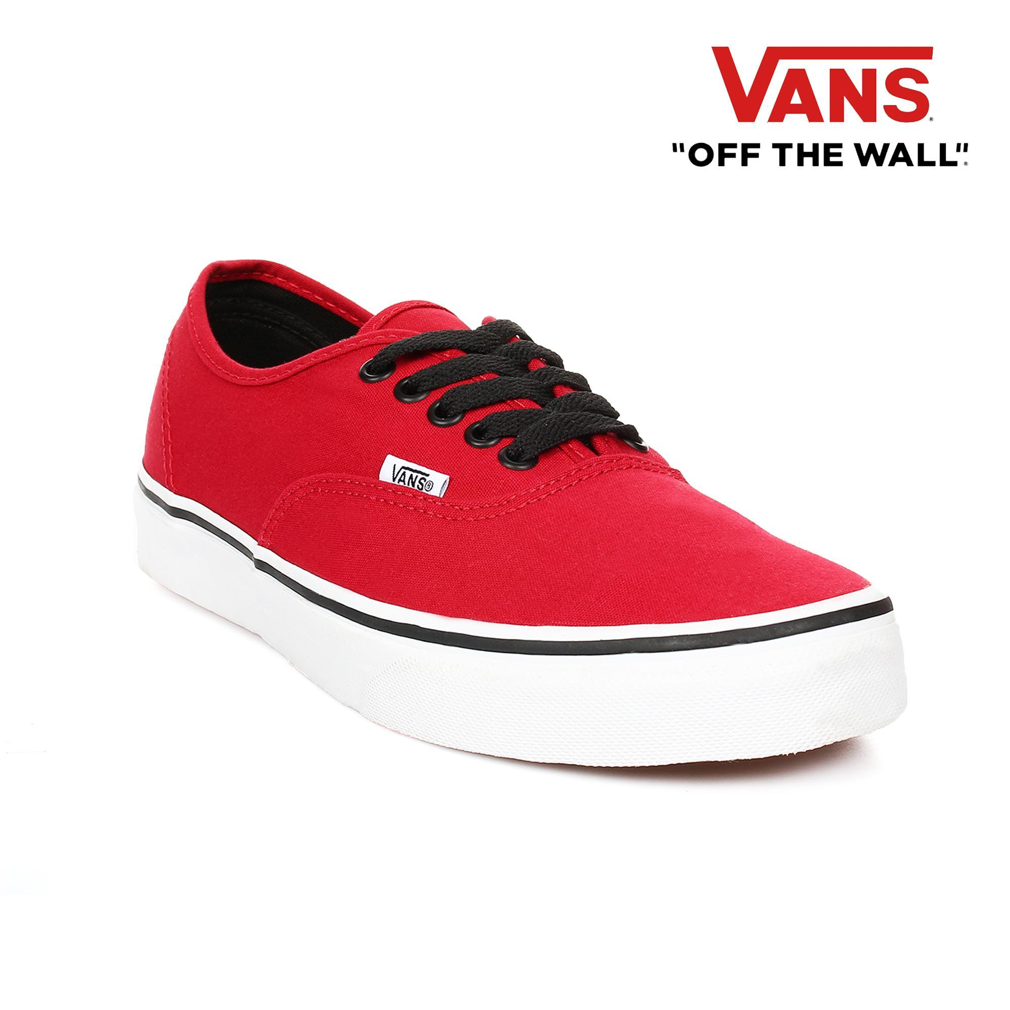 f6faf3714e44 ... fast delivery 5ce2f 71d7c Vans Mens Authentic Sneakers (Chili Pepper  Black) ...