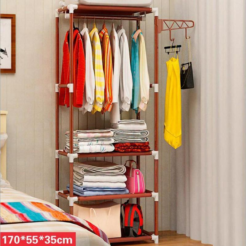 Portable Creative Hanger Rack Coat Hat Clothes Organizer Closet Storage Shelves