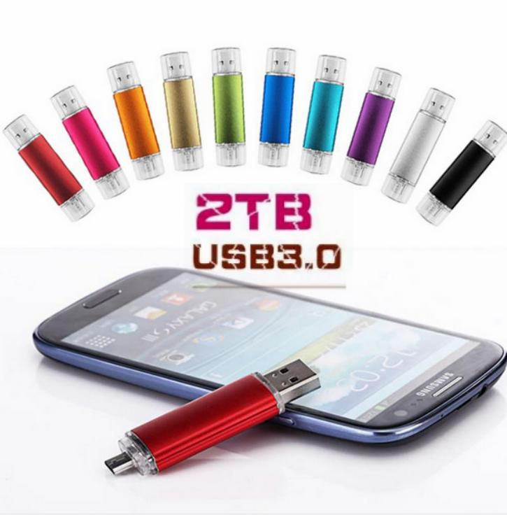 Hot Sell2TB USB 3.0 OTG For Android Phone High Speed Memory Stick USB Flash Drive Metal