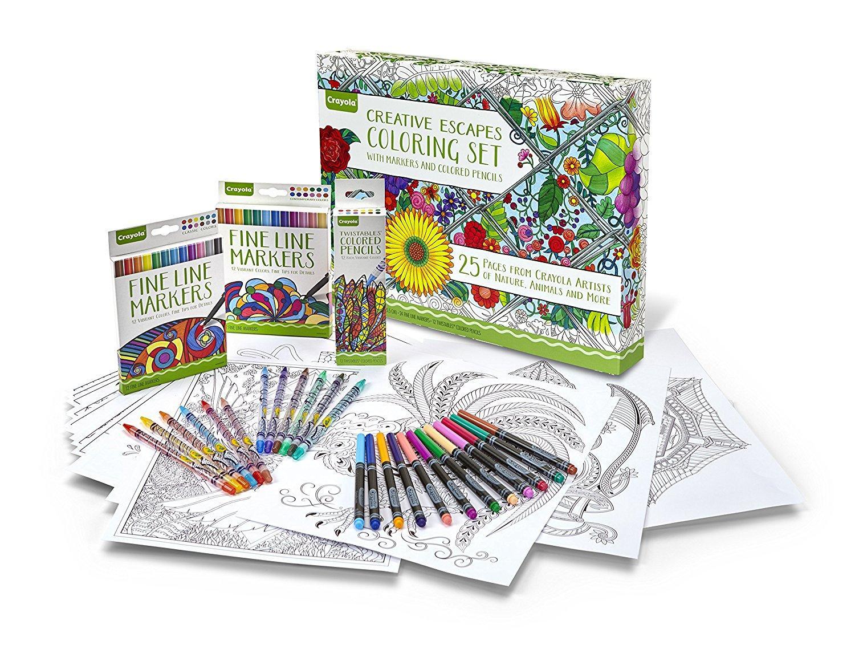 Crayola Adult Coloring Book Marker Art Activity Set