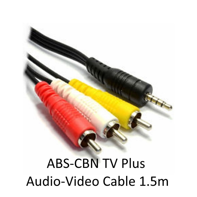 ABS CBN TV Plus 1.5M Heavy Duty Audio Video Cable | Lazada PH