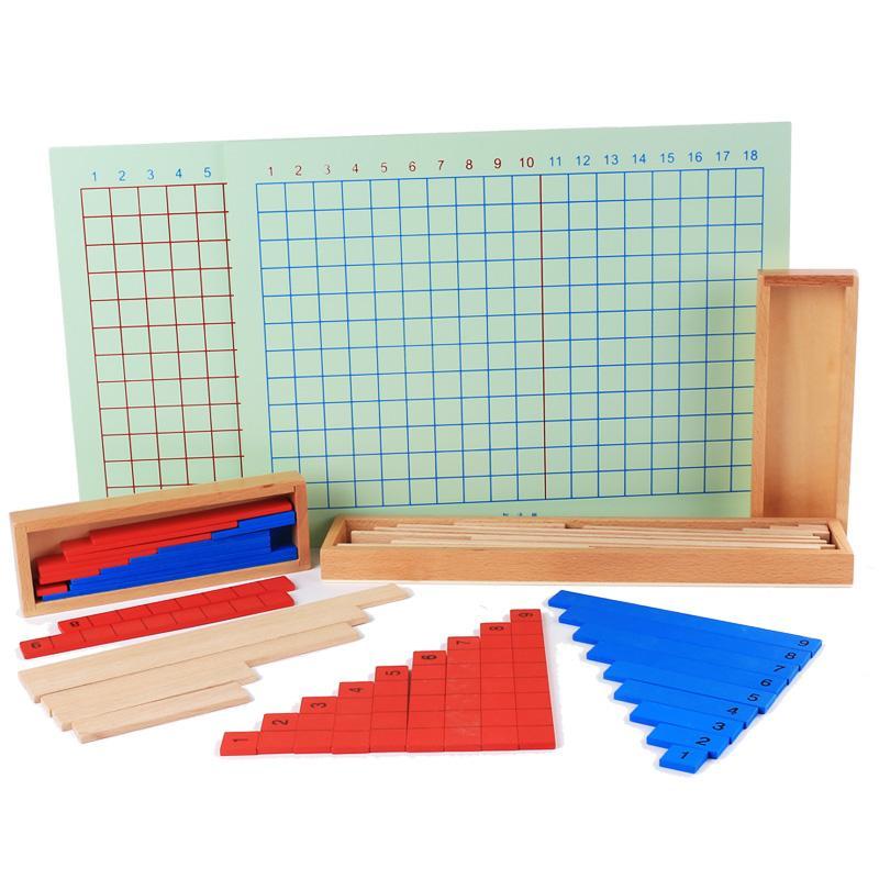 Rp 223.500. Montessori matematika Mainan bayi pengurangan perkalian dan pembagian Board angka mainan Montessori pendidikan usia dini anak-anak ...