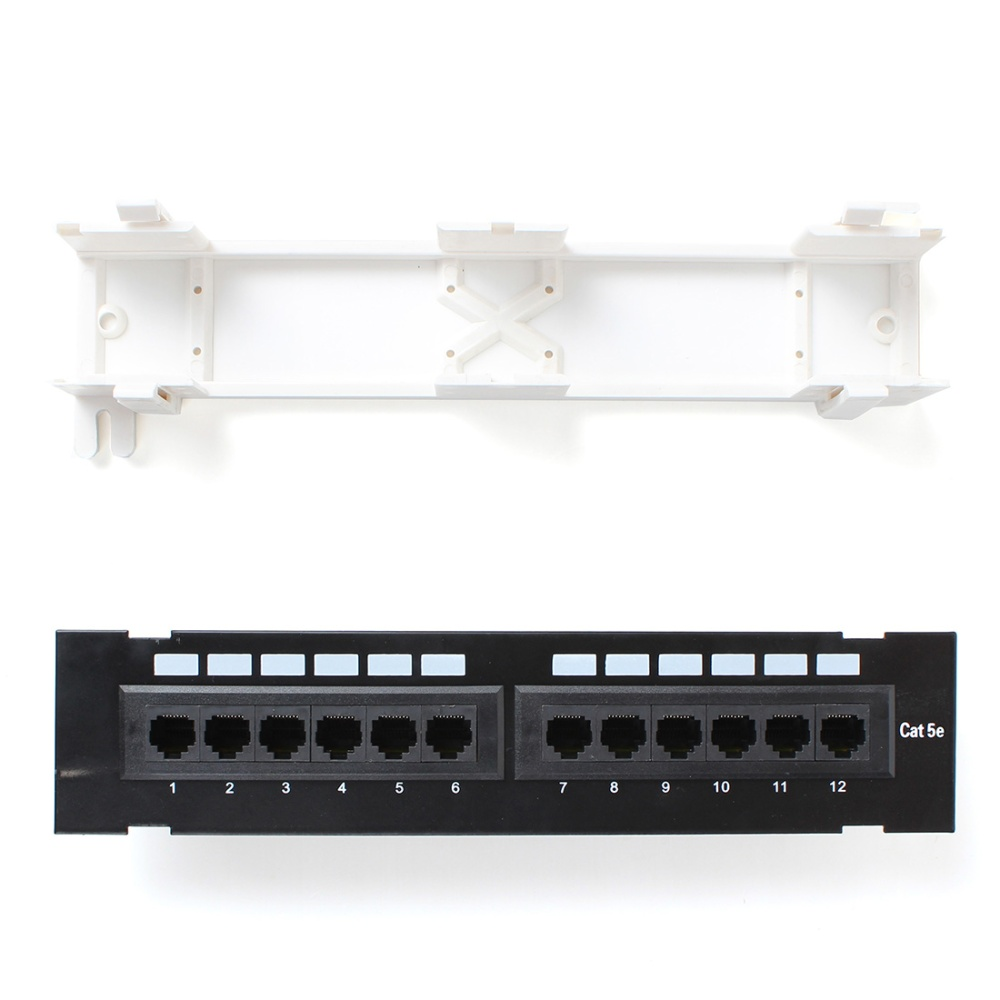 Cat5e Pro Rj45 Network Mini Patch Panel Wall Mount Rack Surface Wiring Telephone 110 To Rj 45 Type And Number Of Ports 12