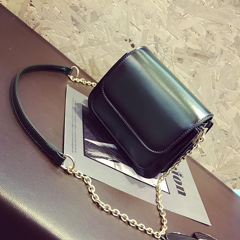 Tas selempang wanita Gaya Korea 2018 model baru netral Tas tali rantai modis Mini tas kecil