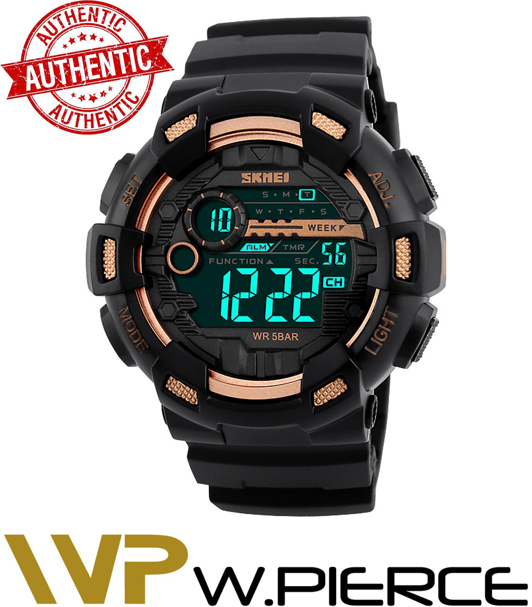 3921097d115 SKMEI 1243 W Box W.Pierce Men Sports Watches 50M Waterproof Back Light LED