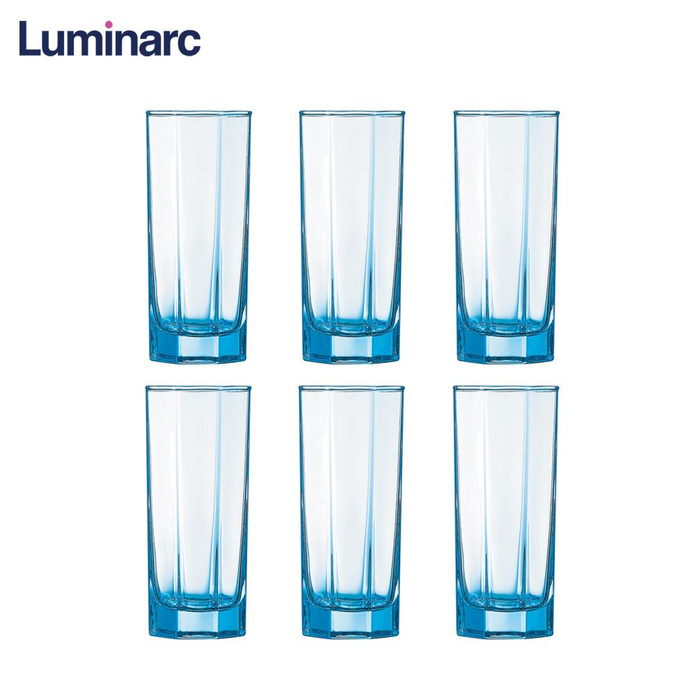 Luminarc Octime Solid Color Ice Blue Heat Resistant and Dishwasher Safe Drinking Water Juice Glass Tumbler